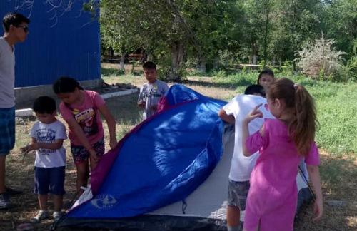 палатку – легко
