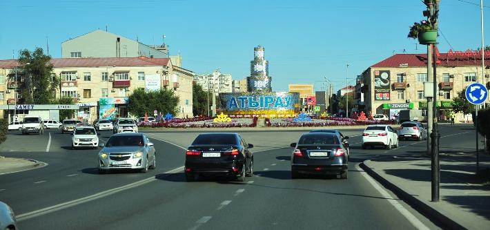 улицах Атырау