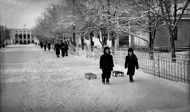zima. sneg. gurev